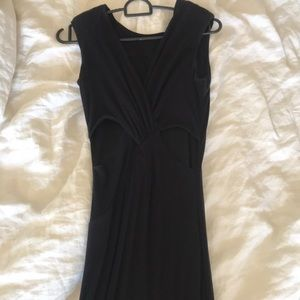 bebe Dresses - Bebe Black Floor Length Gown with Cutouts